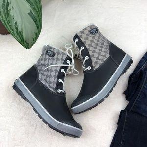 NEW Keen Elsa Black Houndstooth Waterproof Boots